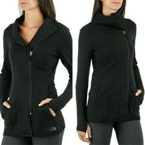 North Face Black Asymmetrical Zip Up Sweatshirt